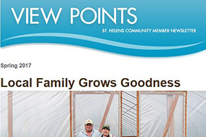front of newsletter with viewpoints header and