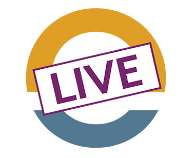 orange and blue circle with the word LIVE in purple on top of it. This is the InRoads LIVE app logo